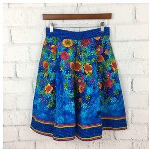 Vintage Made Floral Print summer skirt.
